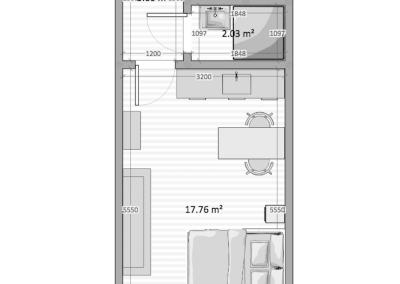půdorys byt 34